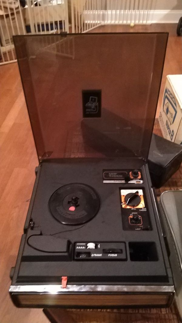 Kodak ektasound projector and video camera