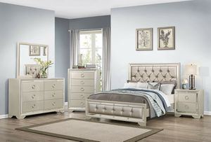 BEAUTIFUL NEW JASMINE QUEEN BED, DRESSER, MIRROR AND NIGHT STAND SET ON SALE ONLY $799. KING SET $899. NO CREDIT CHECK FINANCING! for Sale in Tampa, FL