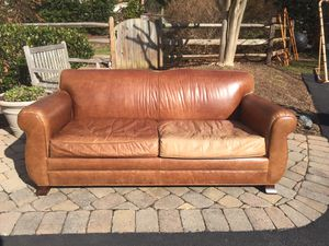 Destinations top grain leather couch for Sale in Sterling, VA