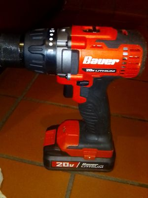 Bauer 20 volt lithium ion power drill and battery(no charger) for Sale in La Habra Heights, CA