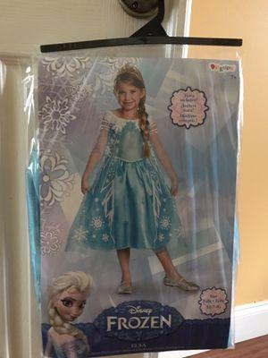 Frozen Elsa Girl Dress Size 7-8 for Sale in Coconut Creek, FL