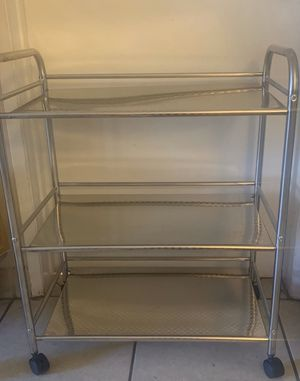 Stainless steel kitchen/storage cart, 3 shelving , Firm Price. for Sale in Los Angeles, CA