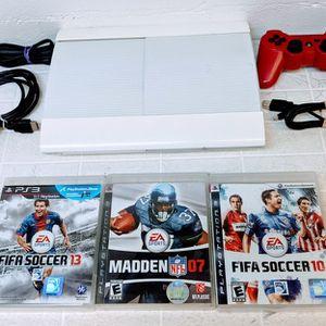 Playstation 3 White Super Slim 500GB PS3 for Sale in Orlando, FL
