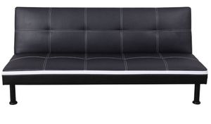 Brand New Black Leather Tufted Futon & Free Delivery for Sale in Renton, WA
