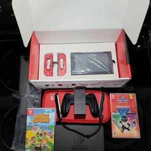 Rare* Mario Double Red Nintendo Switch Console With Games for Sale in Anniston, AL