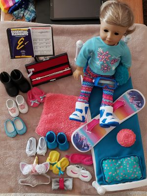 American Girl Doll & Clothes clothing bed game set couch wheelchair flute Snowboard shoes Scientist for Sale in Pittsburg, CA