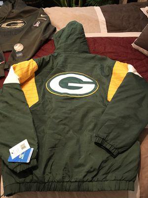 Vintage Starter jacket, Nike Packers hoodie, Bears vintage cap for Sale in Phoenix, AZ