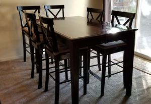 Counter height dining table set with hidden leaf for Sale in San Ramon, CA