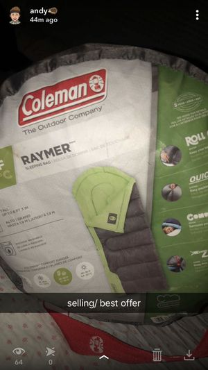 coleman sleeping bag for Sale in Galion, OH