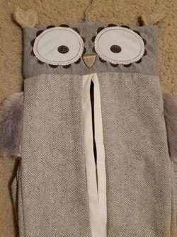 Owl Fabric Diaper Hanger/holder for Sale in Orlando,  FL