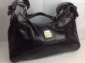 Dooney & Bourke Brown Croc Leather Satchel Shoulder Handbag for Sale in Indian Rocks Beach, FL