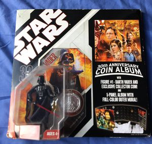 Star Wars Album, Coin and Darth Vader Action Figure for Sale in Mission Viejo, CA
