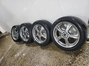 4 18 in 5x100 5x114.3 wheels rims and tires. Motegi racing for Sale in Germantown, MD