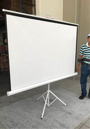 New in box 100 inches 1:1 ratio 70x70 projector projection screen with adjustable tripod stand for Sale in Norwalk, CA
