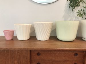 Mid century modern glazed ceramic pots planters pottery for Sale in Seattle, WA