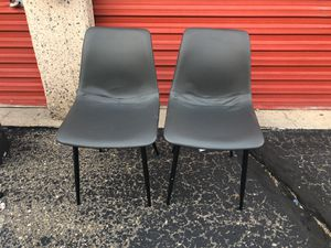 New two Gray new dining room leather chairs for Sale in Lakewood, CO