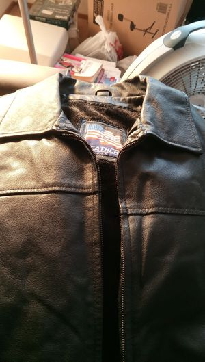 USA brand new leather jacket size large for Sale in San Jose, CA