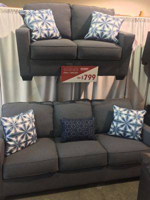 2Pc Sofa and Loveseat Set Black Friday Sale for Sale in Portland, OR