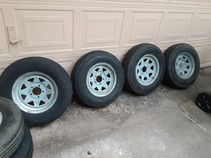 """Trailer tires and rims 14"""" for Sale in La Porte, TX"""