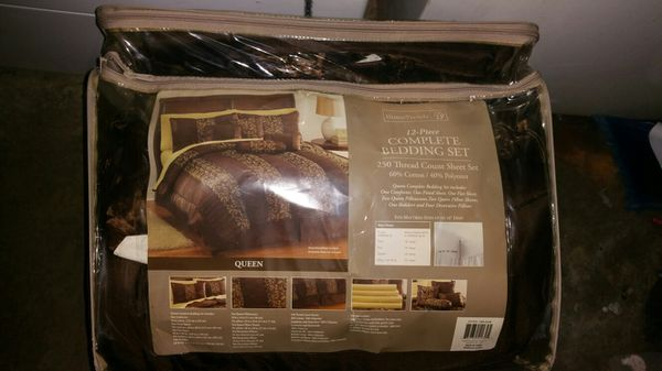 12 piece Queen sized bed set
