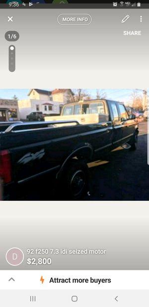 92 f250 7.3 idi seized motor for Sale for sale  Nutley, NJ