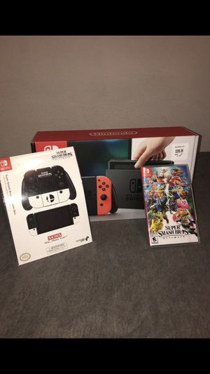 Nintendo Switch w/ Smash Bros (Like New) for Sale in Los Angeles, CA