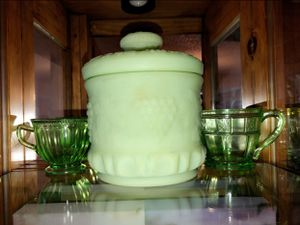 Jadeite glass cups & Cookie jar for Sale in Phoenix, AZ