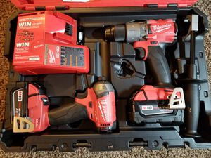 Milwaukee M18 FUEL 18-Volt Lithium-Ion Brushless Cordless Surge Impact and Hammer Drill Combo Kit (2-Tool) w/(2) 5.0Ah Batteries for Sale in Modesto, CA