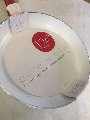 IPAC Italian Pop Art Cooking Pure White Non Stick Fry Pan. for Sale in Miramar, FL