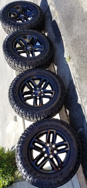 """18"""" SILVERADO TRAIL BOSS NEW RIMS AND TIRES GOODYEAR for Sale in Rancho Cucamonga, CA"""