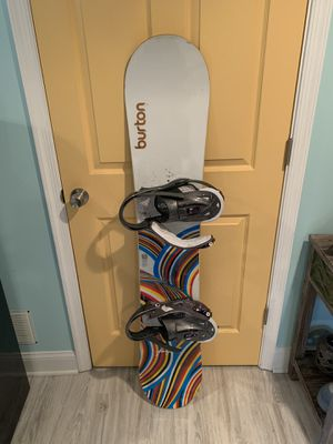 Burton Snowboard with Binders for Sale in Silver Spring, MD