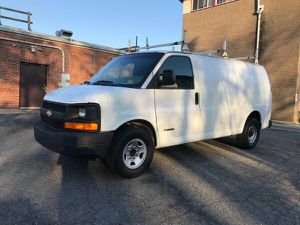 2004 Chevy G3500 Express Cargo work van 3 ladder racks work shelves 157k Miles for Sale in Falls Church, VA