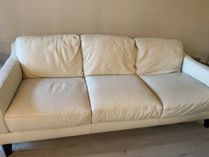Eggshell white couch and love seat for Sale in Richmond, CA