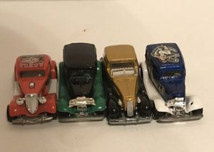 Vintage hot wheels cars lot 1/64 1935 Cadillac Gold, hot Rod, Ship Shape 1934 Ford Hot Wheels 1988 Tat Rod Collectabl for Sale in Kirkland, WA
