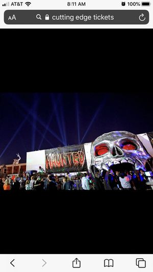 Cutting Edge haunted house tickets for TODAY x2 for Sale in Irving, TX