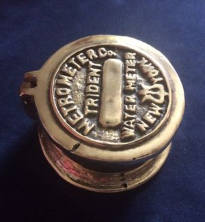 Brass water meter cover for Sale in Tempe, AZ