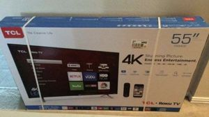 """55"""" TCL 55S517 4K UHD HDR ROKU SMART TV DOLBY VISION 2160P (FREE DELIVERY) for Sale in Lakewood, WA"""