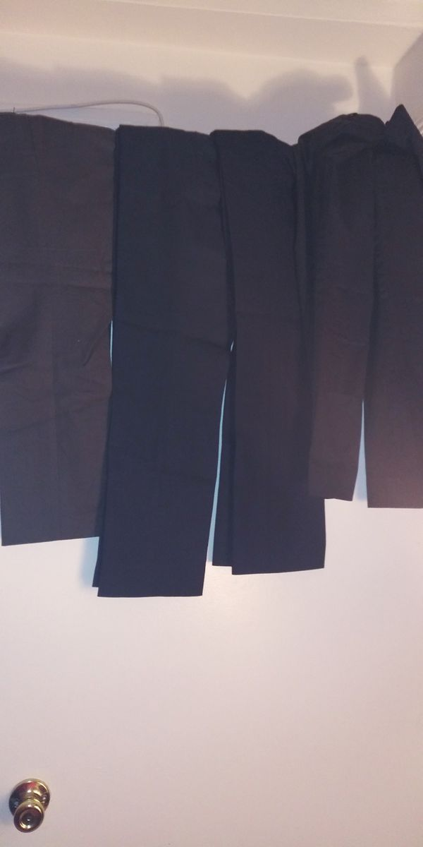 9 pair size 2 Women dress khakis black blue brown and gray size 2