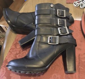 Women's Black Leather Harley Boots Size 7.5 for Sale in Raymore, MO