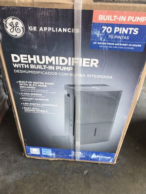 GE 70 pt. Dehumidifier with Built-In Pump, ENERGY STAR for Sale in Rosemead, CA