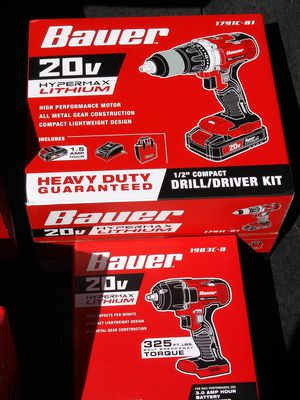 "Bauer drill/driver kit & 3\8"" compact impact wrench for Sale in Phoenix, AZ"