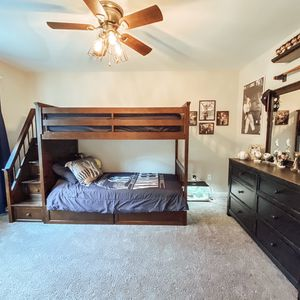 Espresso Twin Bunk Beds with Stairs & Storage for Sale in Wolcott, CT