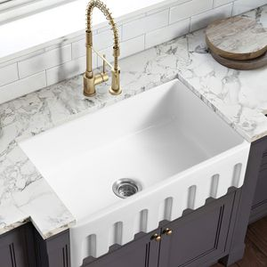 White porcelain single kitchen sink-2423 for Sale in Covina, CA