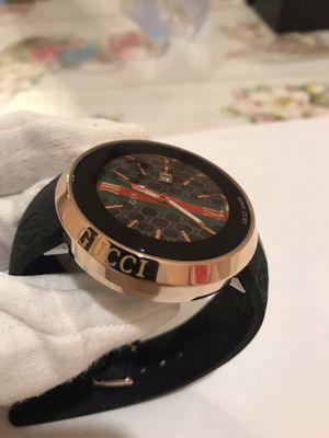GUCCI ROSE GOLD RUBBER STRAP WATCH (MEN) for Sale in Silver Spring, MD