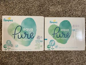 2) Pampers aqua pure 336 wipes each with free enfamil for Sale in Grand Prairie, TX