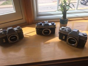 Film photography cameras with free lens and film for Sale in Cumberland, RI