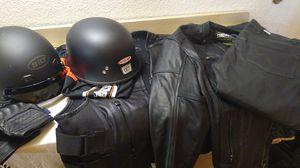 Motorcycle Gear/Full Suit + 2 Helmets + Armored Street & Steel Jacket + Pants + Vest for Sale in Los Angeles, CA