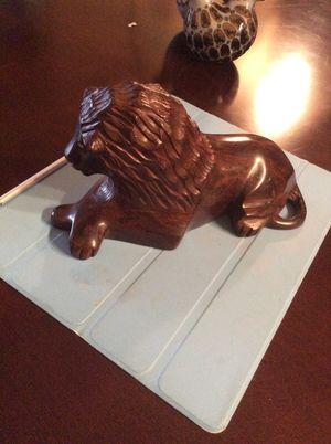 African Hand carved wooden lion for Sale in Arlington, VA