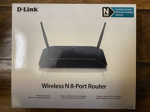 D-Link wireless router with ports for Sale in Los Angeles, CA