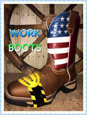 BOTAS DE TRABAJO 🛠🛠🛠 WORK BOOTS for Sale in Dallas, TX
